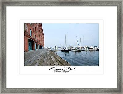Hendersons Wharf Framed Print