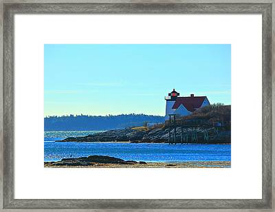 Framed Print featuring the photograph Hendricks Head Lighthouse 2 by Amazing Jules
