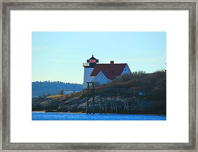 Framed Print featuring the photograph Hendricks Head Lighthouse by Amazing Jules