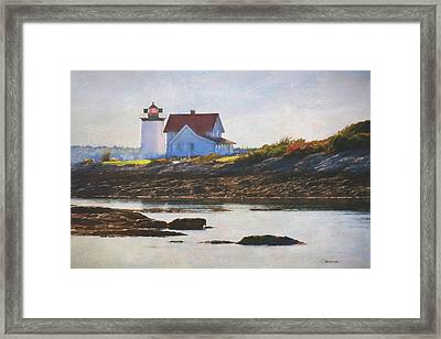 Hendricks Head Lighthouse - Maine Framed Print