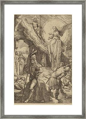 Hendrik Goltzius Dutch, 1558 - 1617, The Resurrection Framed Print