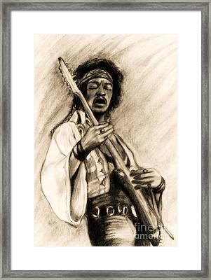 Hendrix-antique Tint Version Framed Print by Roz Abellera Art