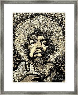 Jimi Hendrix Framed Print by Michael Kulick