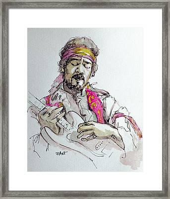 Hendrix Framed Print by Laur Iduc