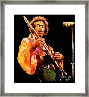 Hendrix Framed Print by Paul Tagliamonte