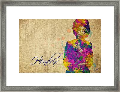 Hendrix Framed Print by Paulette B Wright