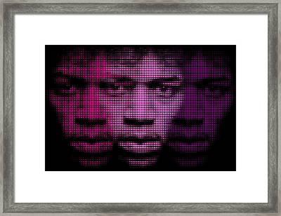 Hendrix - Purple Hazy Framed Print by Bobby Zeik