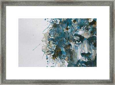 Hendrix Watercolor Abstract Framed Print by Paul Lovering
