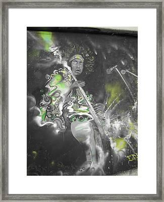 Hendrix X-ray #1 Framed Print by Erik Franco