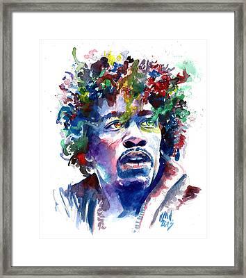 Hendrixhead Framed Print by Ken Meyer jr