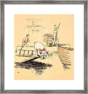 Henley Regatta Framed Print by Cecil Charles Windsor Aldin