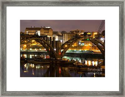 Henley Street Bridge Renovation II Framed Print by Douglas Stucky