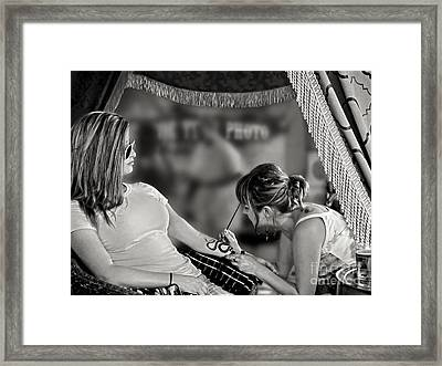 Framed Print featuring the photograph Henna At The Fair by Jennie Breeze