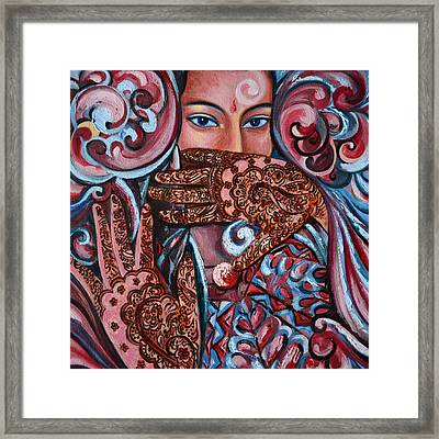 Framed Print featuring the painting Henna by Harsh Malik