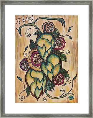Henna Hops Study 1 Framed Print by Alexandra Ortiz de Fargher