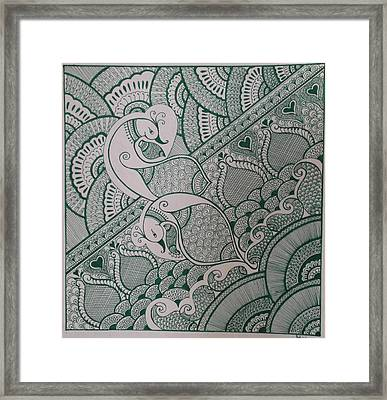 Henna Framed Print by M Ande