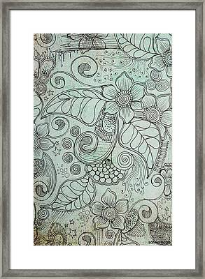 Henna Pattern Framed Print by Salwa  Najm