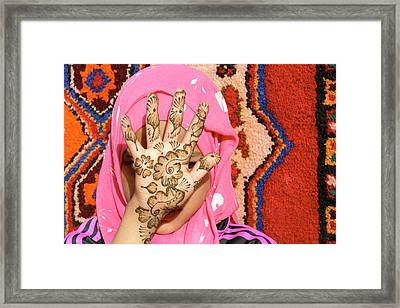 Henna Tattoo Framed Print by Thierry Berrod, Mona Lisa Production