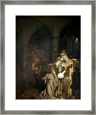 Hennig Brand, German Alchemist Framed Print