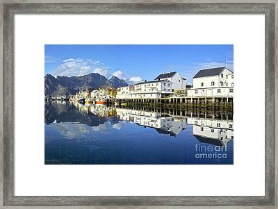 Henningsvaer Harbour Framed Print