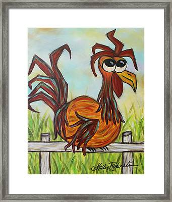 Ol' Rooster Framed Print by Molly Roberts