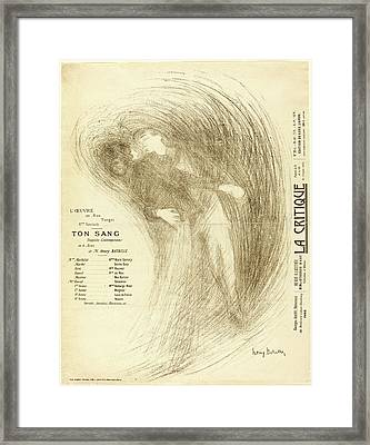 Henri Bataille, French 1872-1922, Ton Sang Framed Print by Litz Collection