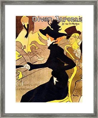 Divan Japonais Poster Framed Print by Henri de Toulouse-Lautrec