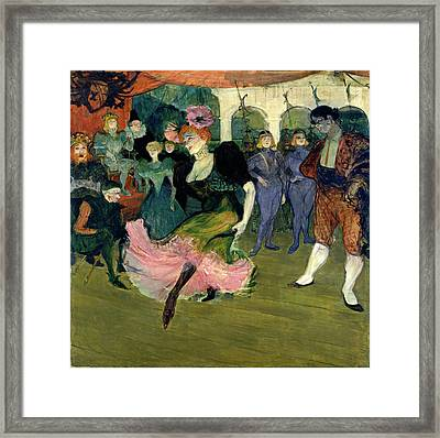 Henri De Toulouse-lautrec, Marcelle Lender Dancing Framed Print by Litz Collection