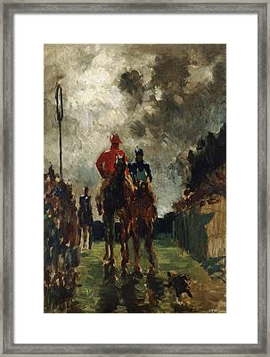 Henri De Toulouse Lautrec Framed Print by The Jockeys