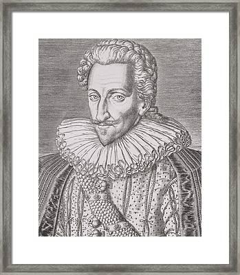Henri Iv Framed Print by Theodore De Bry