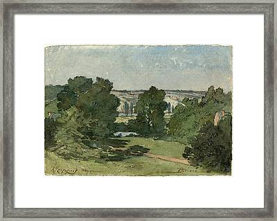 Henri-joseph Harpignies, Briare, French, 1819-1916 Framed Print by Litz Collection