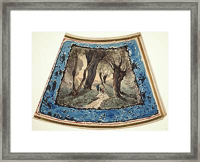 Henri-joseph Harpignies, French 1819-1916 Framed Print by Litz Collection