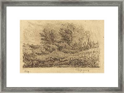 Henri-joseph Harpignies French, 1819 - 1916 Framed Print by Quint Lox