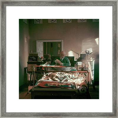 Henri Matisse In Bed Framed Print by Clifford Coffin