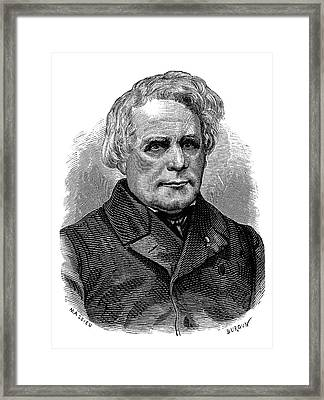 Henrich Ruhmkorff Framed Print by Science Photo Library