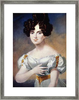 Henriette Sontag (1806-1854) Framed Print by Granger