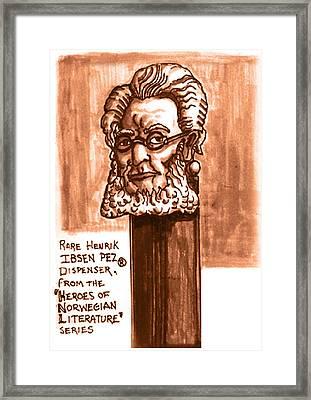 Henrik Ibsen Framed Print by Del Gaizo