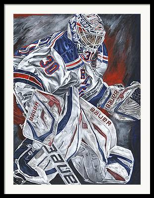 Henrik Lundqvist Paintings Framed Prints