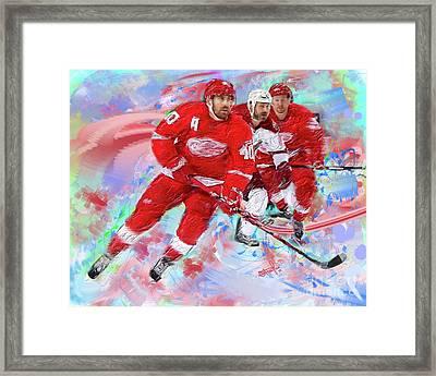 Henrik Zetterberg 2 Framed Print by Donald Pavlica