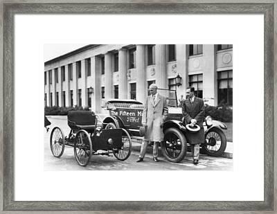 Henry And Edsel Ford Framed Print