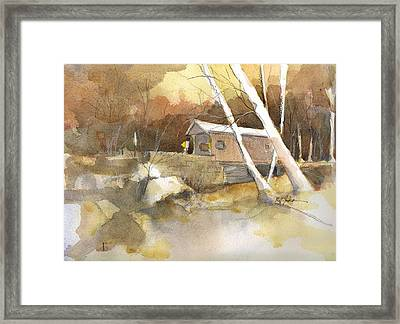 Henry Bridge In Fall  Framed Print by Robert Yonke