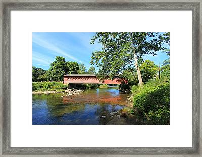 Framed Print featuring the photograph Henry Bridge by Trina  Ansel