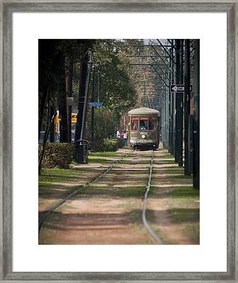Henry Clay Avenue Streetcar Framed Print by Ray Devlin