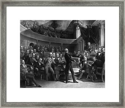 Henry Clay Speaking In The Senate Framed Print by War Is Hell Store