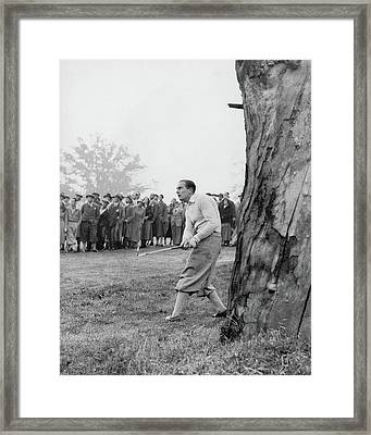 Henry Cotton Playing Golf Framed Print