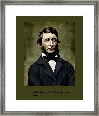 Henry David Thoreau Framed Print by John Feiser