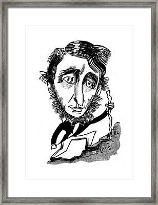 Henry David Thoreau Framed Print by Tom Bachtell