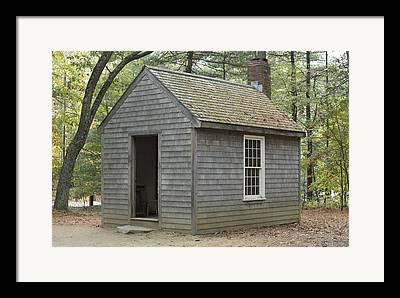 Thoreaus Cabin Framed Prints