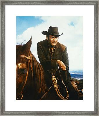 Henry Fonda In Firecreek  Framed Print by Silver Screen