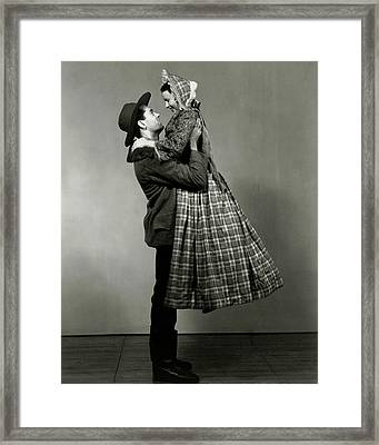 Henry Fonda Lifting June Walker Framed Print by Florence Vandamm